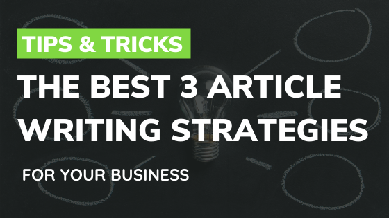 article writing services and strategies